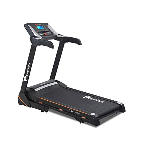 PowerMax Fitness TDM-100S-V2 1.5HP (3HP Peak) Motorized Treadmill with Free Installation Assistance, Home Use & Automatic Lubrication