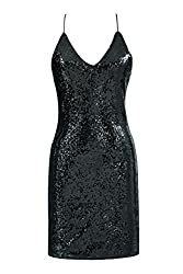 Metme Vintage Inspired 1920s Sexy Suspender Sparkly Mini Dress Party Bar Club