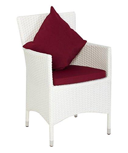 OUTFLEXX Sessel aus Polyrattan inkl. Polster und Kissen, 2er Set weiß