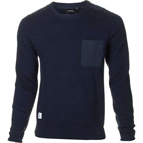 WeSC Kayden Crew Sweatshirt - Men's Blue Iris, S