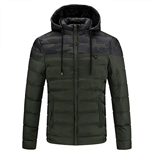 - Big Ptomotion!Men Jacket CoatMens Winter Zipper Wool Blouse Thickening Coat Pullover Outwear Top Blouse(XL,Army Green)