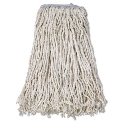 Mop Head Cotton 4 Ply - BWKCM02032S Mop Head, Cotton, Cut-End, White, 4-Ply, #32 Band