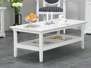 Couchtisch Nice Tisch Wohnzimmertisch Weiß Lackiert Neu