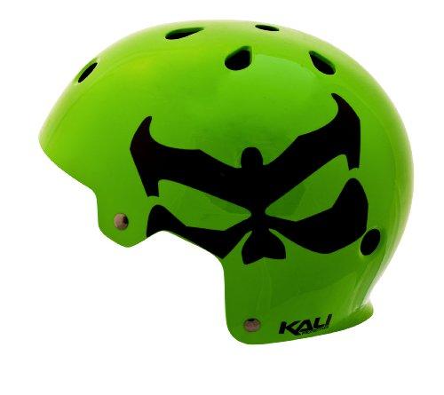 Kali Protectives Maha Logo Helmet, Neon Green, Large