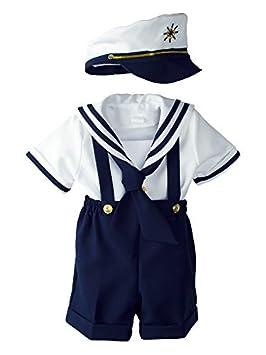 Para bebé Niños náutico azul marino traje de marinero Corto Set ...
