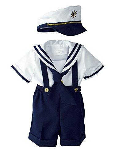 Para bebé Niños náutico azul marino traje de marinero Corto ...