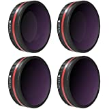 Freewell Bright Day – 4K Series – 4Pack ND8/PL, ND16/PL, ND32/PL, ND64/PL Camera Lens Filters Compatible with DJI Osmo Action Camera