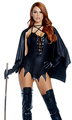 (Forplay Women's, Please Sexy Witch Costume, Black, S/M)