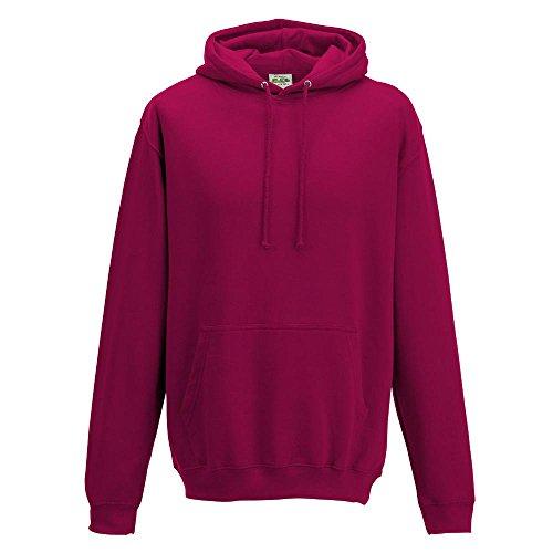 Just Hoods - Unisex College Hoodie / Cranberry, M