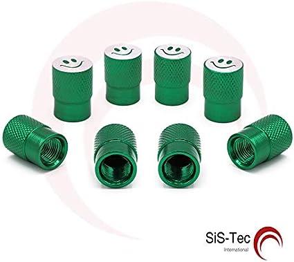 Tapones de válvula de aluminio Smiley verde – Válvulas para ...