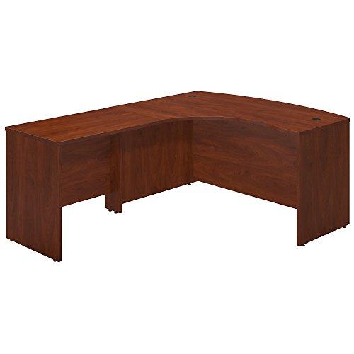 Return Desk Pedestal Left (Bush Business Furniture Series C Elite 60W x 43D Left Hand Bowfront Desk Shell with 36W Return in Hansen Cherry)
