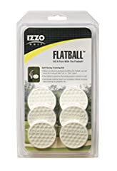 Get the best golf swing you've ever had with the Izzo Golf Flatball Swing Golf Training Aid! The Flatball is a new and innovative Golf Swing Training Aid. The Flatball is a soft rubber disk that is the same diameter as a real golf ball but is...