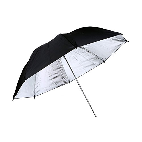 "Lightdow 2pcs 33""/83cm Photo Studio Reflective Light Umbrella Reflector, Black/Silver (Model Number: LD-DP015)"
