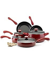 Paula Deen Collection Non-Stick Surface Aluminum Red Speckle Porcelain 15-piece Set