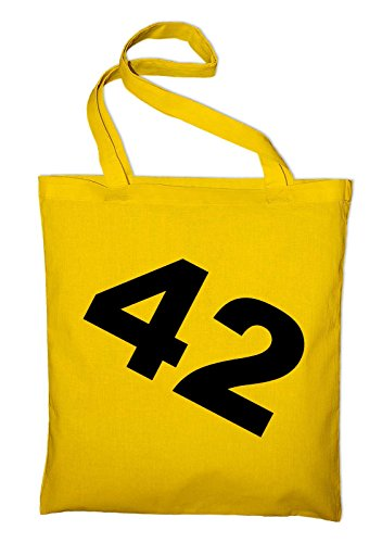 42 And 3 Cotton Bag Tasche yellow To Guide Bag nbsp;hitchhiker's The Jute nbsp;in Galaxy Styletex23bag3anh5 Yellow Fabric wX4rXPxq