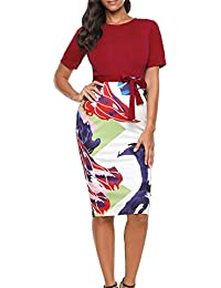 Women's Bodycon Business Pencil Dress Party Knee Length...