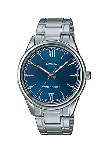 Casio MTP-V005D-2B2 Men's Standard Stainless Steel Persian Blue Dial Analog Watch