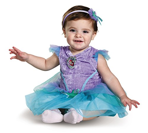[Disney Baby Girls' Ariel Infant Costume, Turquoise, 6 to 12 Months] (12 Month Girl Costume)