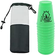 12 Pack Quick Stack Cups Set Plastic Sports Stacking Cups Speed Training Game For Travel Party Challenge Compe