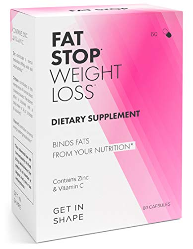 FAT STOP - Weight Loss Pills that Bind Fats from Food and Reduce Calorie Intake (Fat Blocker with Chitosan