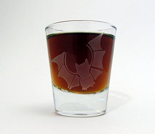 Bat | Etched Glassware Whiskey Shot -