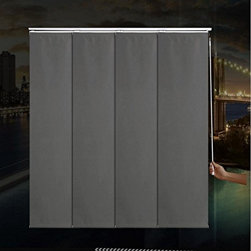 High Quality Adjustable Sliding Panels Cut to Length Vertical Blinds (Room Darkening) Websize Priced at Manual(1pc,39 W x 39L)Contact us for Customize Size karlleo-curtain