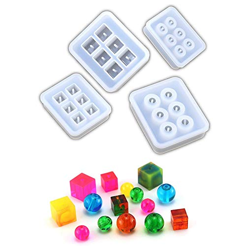 (Round Beads,Square Beads Pendant Clay Silicone Mold,Crafting, Resin Epoxy Molds, Jewelry Earrings Making,DIY Mobile Phone Decoration Tools )