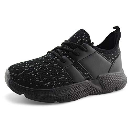 - Jabasic Kids Lightweight Running Shoes Boys Girls Casual Slip on Sneakers (4,Blk/Blk)