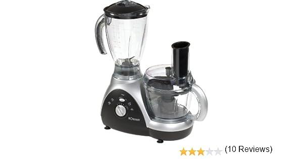 Bomann KM 345 CB Robot de cocina, recipiente 1.5L, 5 velocidades, 550W, 550 W, Negro y plateado: Amazon.es: Hogar
