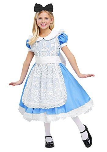Child's Alice Costume Elite Alice in Wonderland Child Costume Small -