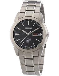 Seiko Mens SGG731 Titanium Silver Dial Watch