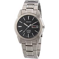 Seiko Men's Quartz Titanium Casual Watch, Color:Silver-Toned (Model: SGG731)