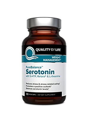 Quality of Life Pure Balance Serotonin Premium 5-HTP & Stress Supplement-Helps Boost Serotonin & Cortisol Levels-Mood & Sleep- 90 Capsules