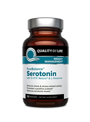 Cortisol Levels (Quality of Life Pure Balance Serotonin Premium 5-HTP & Stress Supplement–Helps Boost Serotonin & Cortisol Levels–Mood & Sleep–Includes Relora, Rhodiola, Vitamin D3 & L-Theanine–90 Capsules)