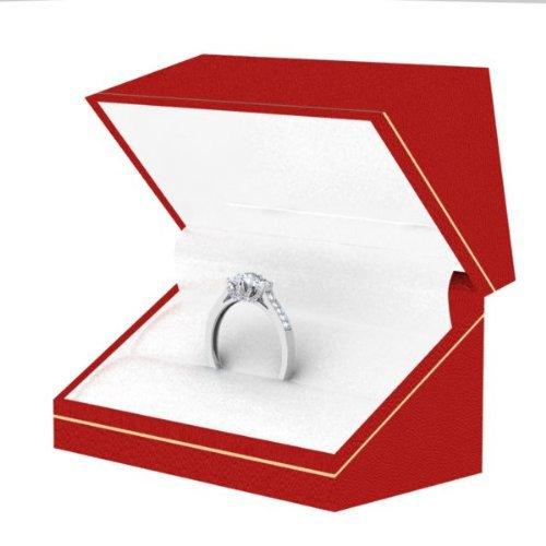 Dazzlingrock Collection 1.00 Carat (ctw) 14K Round White Diamond 3 Stone Bridal Engagement Ring 1 CT, White Gold, Size 8 by Dazzlingrock Collection (Image #5)