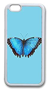 """ICORER Cute iphone 6 plus Case, Blue Butterfly Durable Case Cover for Apple iPhone 6 Plus with 5.5"""" Screen TPU White"""