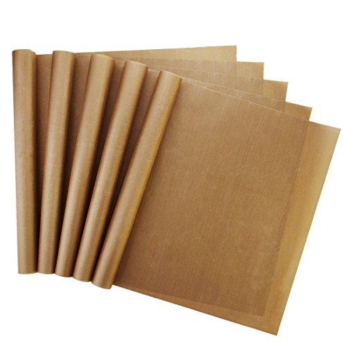 Bantoye 5 Paquetes Hoja de teflón Hoja de transferencia de prensa de calor para el cocinero y la camisa Hoja de teflón...