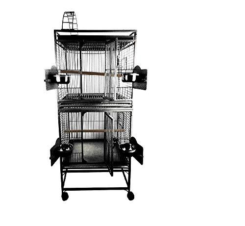 Small Double Stack Bird Cage Color Black