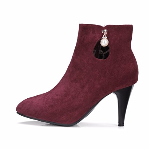 heels boots high size shoes suede short big winter gules and Winter 4qwtHH