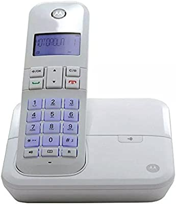 1db57ba6b Telefone Digital sem Fio Motorola Moto 4000W com Identificador de Chamadas,  Viva VOZ - Branco