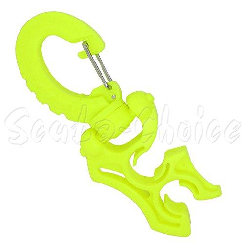 Scuba Choice Scuba Diving Double Hose Holder with Clip, Yellow ()