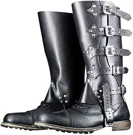 Spats, Gaiters, Puttees – Vintage Shoes Covers Wraith of East Faux Leather Medieval Gaiters Viking Knight Warrior Armor Boot Covers Spats Waterproof Leg Guards LARP Ranaissance Costume Accessories  AT vintagedancer.com