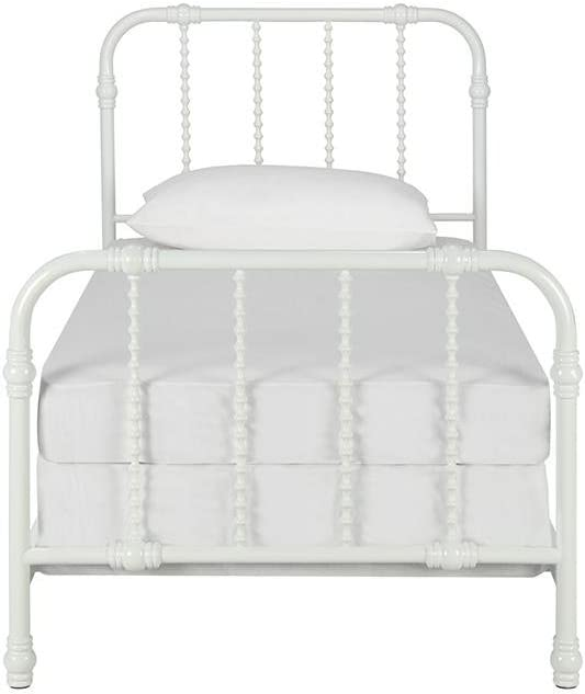 Full White DHP 4097129 Jenny Lind Metal Bed