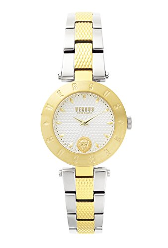 Versus by Versace Women's 'NEW LOGO' Quartz Stainless Steel Casual Watch, Color:Two Tone (Model: - New Versace