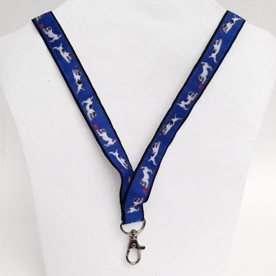 Jack Russell Terrier Dog Breed Neck Lanyard for ID or Keys - Blue