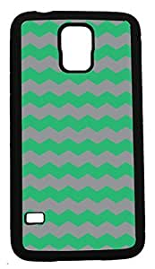 Blueberry Design Samsung Galaxy S5 Case Zigzag Wave Design Mint Green and Grey - Ideal Gift