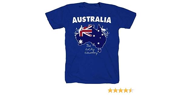 Camiseta Australia Sydney Gold Trucker de rugby, canguro, koala, tiburón, color azul