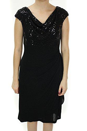Dress Alex Waist Empire Metallic Black 10 Knit Evenings SYgPYUwF4
