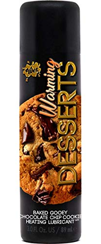 (Wet Warming Desserts Baked Gooey Chocolate Chip Cookie Flavored Lube, Warming Lubricant, 3 Ounce Bottle for Irresistible Warming Sensations )