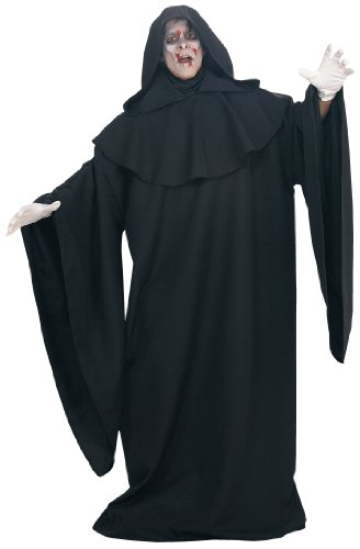 Deluxe Robe (Rubie's Costume Deluxe Full Length Layered Robe, Black, One Size Costume)
